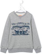 Levi's Kids logo print sweatshirt