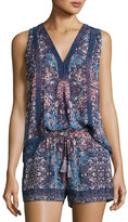 Joie Adelcie Sleeveless Silk Printed Top