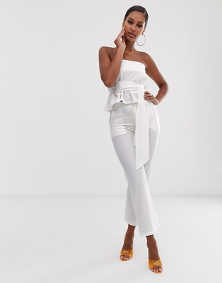 Lioness Jetsetter tailored trouser in white
