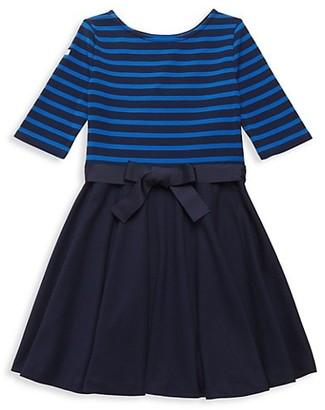 Ralph Lauren Little Girl's & Girl's Striped Ponte Dress