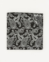 Le Château Paisley Print Microfibre Pocket Square
