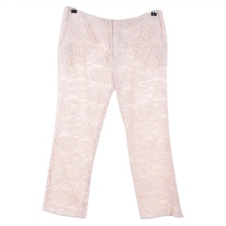 Sly 010 Sly010 Pink Cotton Trousers for Women
