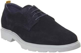 Ask the Missus Lightweight Derby Shoes Navy Suede