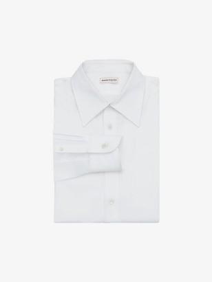 Alexander McQueen Pointy Collar Cotton Poplin Shirt