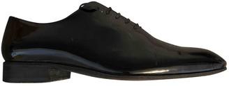 Sergio Rossi Black Patent leather Lace ups