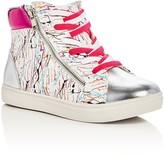 Steve Madden Girls' Splash High Top Sneakers