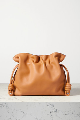 Loewe Flamenco Leather Clutch - Camel
