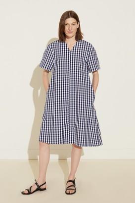 Mansur Gavriel Oversized Gingham Dress - Blu