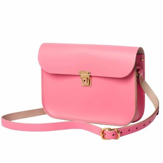 N'damus London Pink Leather 11 Inches Mini Satchel