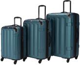 Teal Vortex Spinner Three-Piece Luggage Set