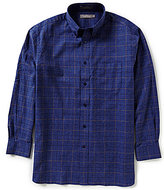 Daniel Cremieux Signature Big & Tall Long-Sleeve Heather Plaid Woven Shirt