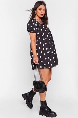 Nasty Gal Womens What You Dot to Say Plus Mini Dress - Black