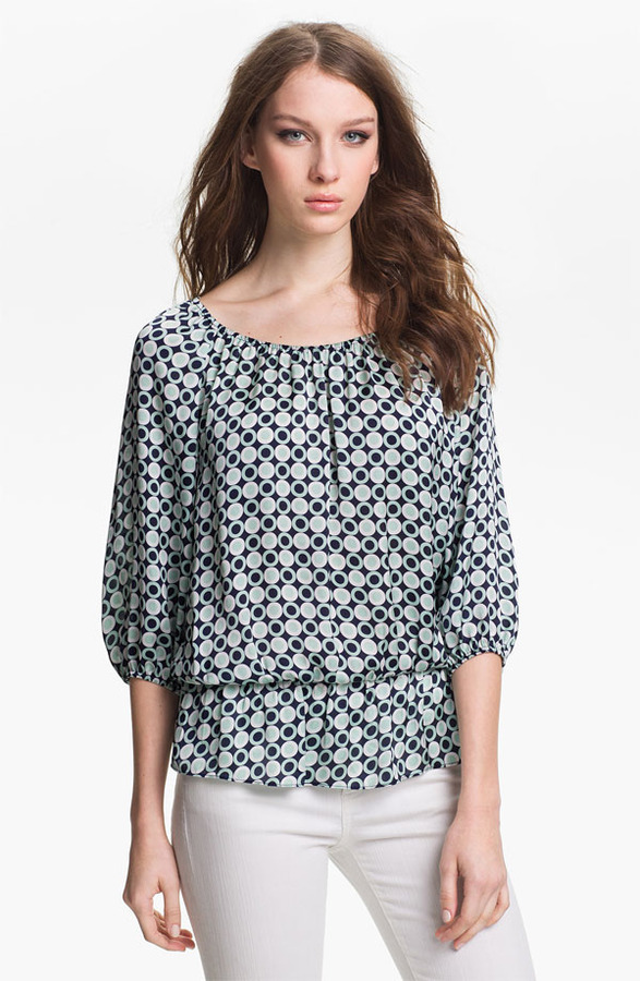 Vince Camuto Peplum Peasant Blouse