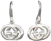 Gucci Sterling Silver G Interlocking Earrings