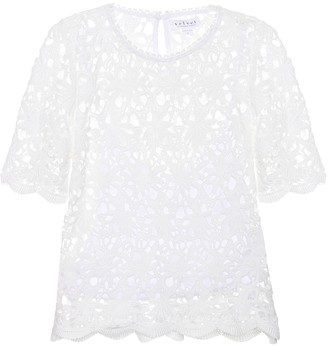 Velvet Kaylee cotton lace top