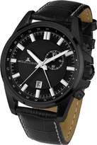 Jacques Lemans Liverpool GMT 1-1653C Men's Watch XL Analogue Quartz Leather
