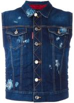 DSQUARED2 Ski sleeveless denim jacket - women - Cotton/Polyester/Spandex/Elastane - 42