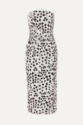 16Arlington Strapless Sequined Crepe Dress - White