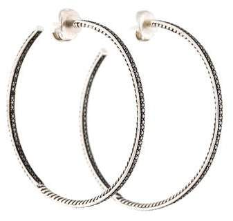 David Yurman Diamond Large Hoop Earrings