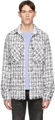 Faith Connexion SSENSE Exclusive White and Black Tweed Shirt
