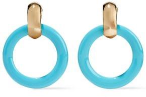 Kenneth Jay Lane Gold-tone Acetate Clip Earrings
