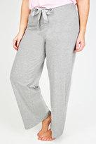 Yours Clothing Grey Basic Cotton Pyjama Trousers