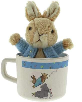 Beatrix Potter Peter Rabbit Bamboo Mug & Soft Toy Set