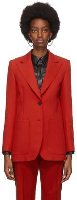 MSGM Red Double Pocket Blazer