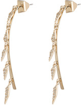 Alexis Bittar Crystal Encrusted Dangling Futurist Post Earring