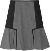 DKNY Flared twill and satin mini skirt