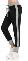 Celeste Black Stripe Tie-Waist Joggers - Plus