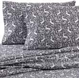 Seasons The Collection® Heavyweight Flannel Reindeer Twin Sheet Set in Grey/White