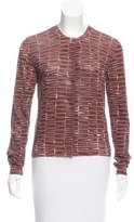 Bottega Veneta Coated Silk-Blend Cardigan