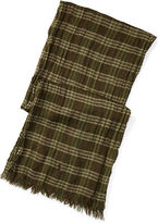 Polo Ralph Lauren Checked Wool-Linen Scarf