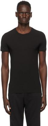Ermenegildo Zegna Black Crewneck T-Shirt