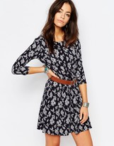 Esprit All Over Floral Print Swing Dress
