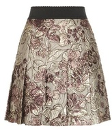 Dolce & Gabbana Metallic Jacquard Pleated Skirt
