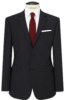 John Lewis Textured Super 100s Wool Tailored Suit Jacket, Charcoal