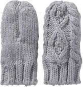 Joe Fresh Toddler Girls' Cable Knit Mittens, Grey (Size 1-3)