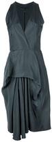 Balenciaga draped panel dress