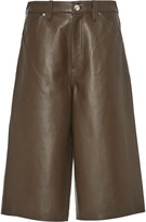 Gold Sign Leather Shorts
