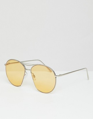 Jeepers Peepers Jeepers Peeper Round Sunglasses With Yellow Lenses