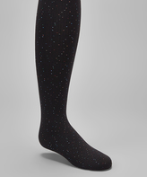 Me Moi Black Speckled Tights - Toddler & Girls