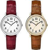 Timex Women's Easy Reader Crocodile Pattern Leather Strap Indiglo Fashion Watch