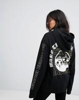 Cheap Monday Ying Yang Skull Print Hoody