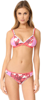 Maaji Orchid Dolphins Fixed Triangle Bikini Top