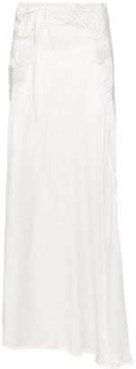 Ann Demeulemeester Asymmetric Pleated Maxi Skirt