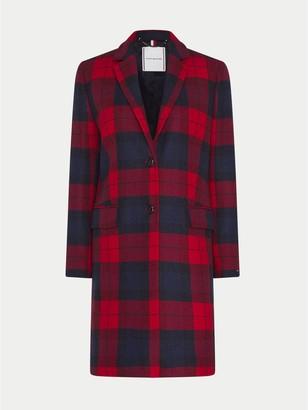 Tommy Hilfiger Curve Plaid Wool Coat