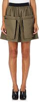 Maison Rabih Kayrouz Women's Cotton Grosgrain-Trim Miniskirt