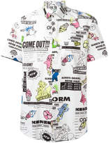 Kenzo Cartoon x Flyer short sleeved shirt